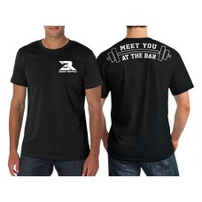 Mens T-Shirt Black - At The Bar