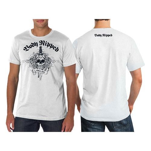 b05317edaa5 Mens T-Shirt White - Skull   Dagger