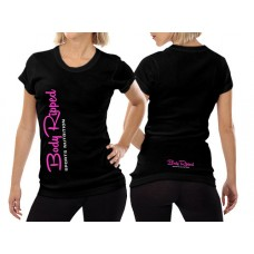 Ladies T-Shirt Black - Vertical Logo
