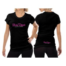 Ladies T-Shirt Black - Horizontal Logo