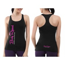 Ladies Racerback Black - Vertical Logo
